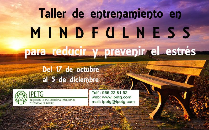 Mindfulness training workshop to reduce and prevent stress. 17 Oct – 5 Dec.