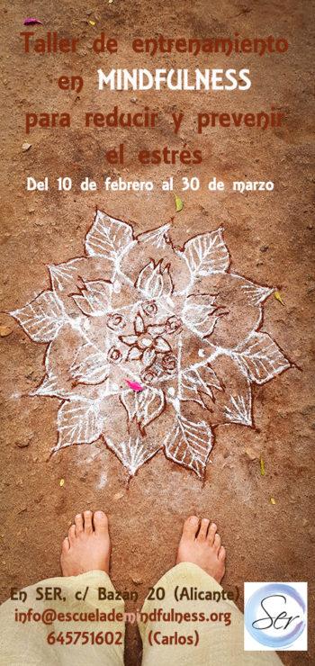 Taller de  Mindfulness en Alicante para reducir el estrés, febrero-marzo 2020